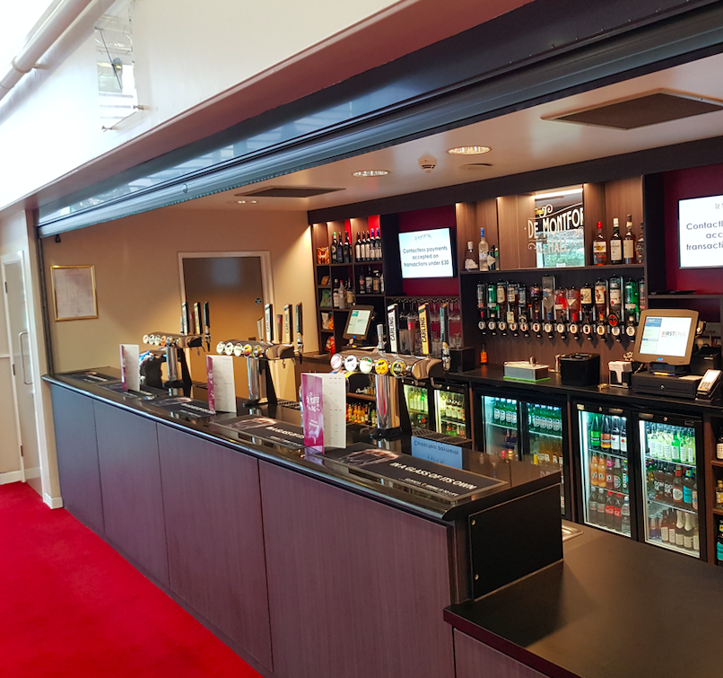 Oliveti Construction renovations of De Montfort Hall bars